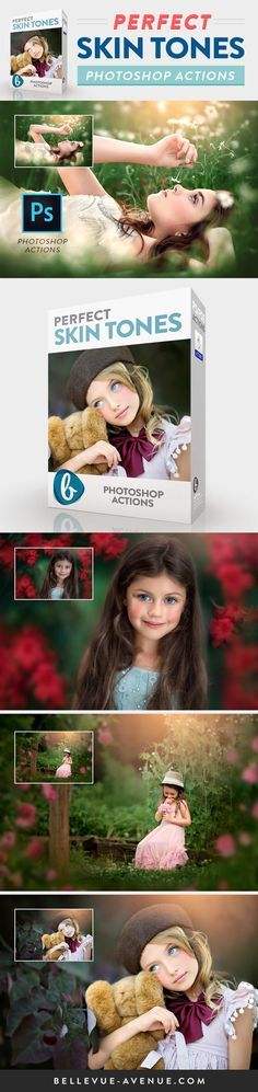 Beautiful Skin Tones made easy with the Perfect Skin Tones Actions from Bellevue Avenue | https://bellevue-avenue.com/products/perfect-skin-tone-photoshop-actions