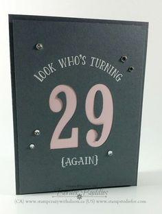 Number of Years Stamp Set, Large Numbers Framelits Dies