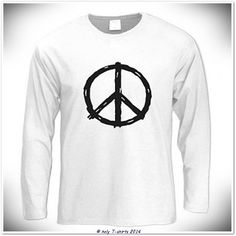 Peace Sign Long Sleeve Cool TShirt unisex by holytshirts on Etsy, $26.49