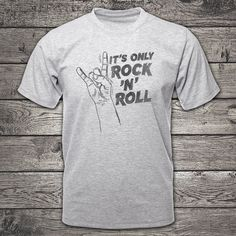 Its only Rock n roll t-shirt clothing rock music clothing Shirt Outfit, T Shirt, Rock Music, Rock N Roll, Best Sellers, Clothing, Mens Tops, Stuff To Buy, Etsy
