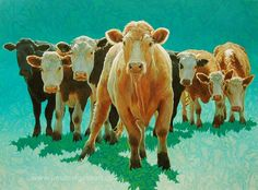 Cow painting by Paul Burgess