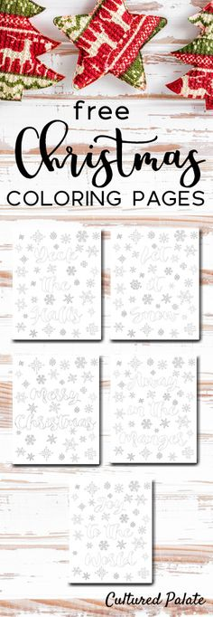 Free Christmas Coloring Sheets for young and  old -  Spread the cheer!  https://myculturedpalate.com/printables/free-christmas-coloring-sheets/