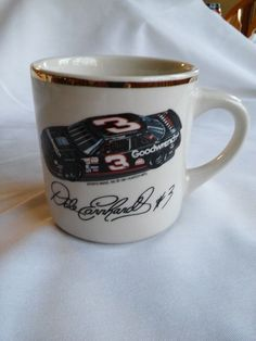 Vintage DALE ERNHARDT #3 Coffee Mug Cup 12 oz. EUC