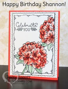 Best Thoughts hostess set from Stampin' Up! - birthday card for Shannon West created by Patty Bennett, Tin of Cards set #imbringingbirthdaysback