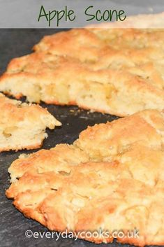 Large scones are really quick to make. Try this apple scone for tea or for pudding. #apple #scone
