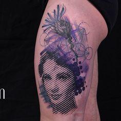Illustration portrait thigh tattoo - 60 Thigh Tattoo Ideas