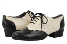 NEW BLACK OFF WHITE OXFORD LACE UP WOMEN SHOES 6