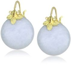 Gabrielle Sanchez 12mm Round Smooth Angelite Flyer Earrings - http://www.wonderfulworldofjewelry.com/jewelry/earrings/drop-dangle/gabrielle-sanchez-12mm-round-smooth-angelite-flyer-earrings-com/ - Your First Choice for Jewelry and Jewellery Accessories