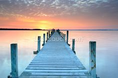 Sunset Jetty wall mural