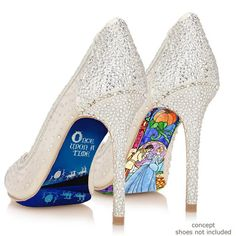 Custom hand painted Cinderella Stained Glass heels