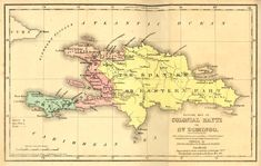 map of st domingue