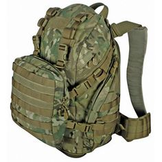 Dual mission backpack constructed of rugged - tactical polyester.Features1 main compartment with mesh pocket - 2 side pockets - expandable bottom for oversized
