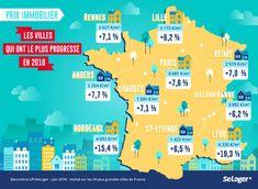 LES 10 VILLES FRANÇAISES OÙ LES PRIX #IMMOBILIER ONT EXPLOSÉ EN 2018 Le Prix, Reims, France, Desktop Screenshot, Business, Real Estate Investing, Cities, Infographic, Store
