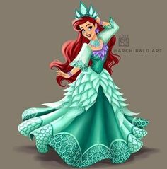 Disney Princesses x 🇵🇭: ARIEL . Ariel wearing a Festive Mestiza Gown. In her sea foam color this is inspired by Sinulog Festival Reynas who sparkle for the gods and uniquely designed attire . Ariel Disney, Mermaid Disney, Disney Nerd, Ariel The Little Mermaid, Cute Disney, Disney Girls, Disney Magic, Walt Disney, Ariel Ariel