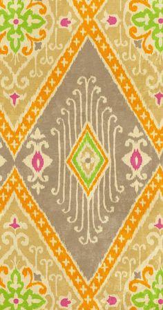 Home Decor Print Fabric- IMAN Ikat Diamond Nectar, , hi-res