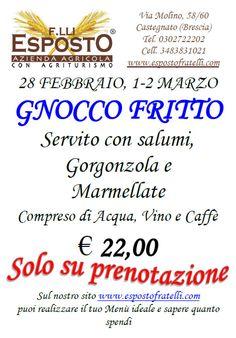 Serata Gnocco Fritto in Agriturismo a Castegnato http://www.panesalamina.com/2014/22306-gnocco-fritto-in-agriturismo-a-castegnato.html