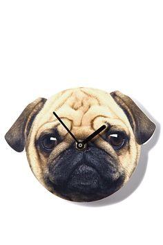 pug clock, PUG FACE
