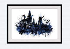 Hogwarts castle Harry Potter Hogwarts castle von ColorfulPrint