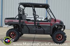New 2016 Kawasaki Mule Pro-FXT™ EPS LE ATVs For Sale in Texas. $16,999 As Equipped! Buy now and save $2,600 OFF OF MSRP as equipped! +$250 Additional discount forMilitary personnel and Veterans! This Mule Pro FXT has 7 inches of lift and 30 inch tall tires! CATVOS Arched A Arm Lift Quad Boss QBT673 30x10x14 Tires STI HD6 Radiant Red 14X7 4+3 Wheels 20 Inches Ground Clearance (check out the pictures and notice how it clears a 5 gallon bucket with 4 inches to spare) The new 2016 Mule PRO-FXT™…