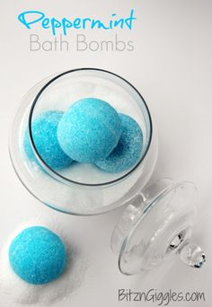 Peppermint Bath Bombs by Bitz & Giggles