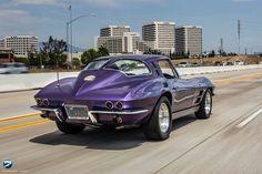 Muscle Cars & Street Rods - Purple Corvette split window - My Memories were in a Silver one!