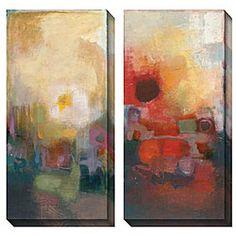 Bailey 'Seasonal Tones III & IV' Oversized Canvas Art Set $150 -----going up stairwell