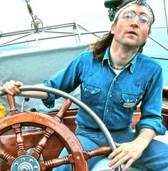 John sailing from Newport (Rhode Island) to Bermuda in July of 1980. Many of his last works were written in Bermuda.