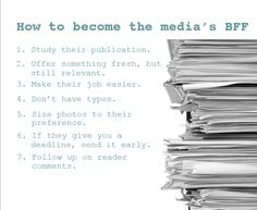 how to get yourself published in the media via @ClickinMoms