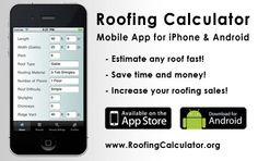 image of Roofing Estimating app for iPhone and Android