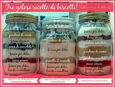 Cookie in a jar, Biscotti in barattolo, Mix per biscotti, Ingredienti per biscotti in barattolo, Ricette biscotti in barattolo, Regali di Natale economici, Home Made, Regalo home made