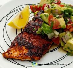 Blackened Salmon with Avocado and Tomato Salsa is tasty, refreshing and so quick and simple to make!