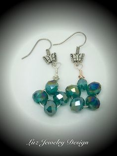 If I were to make these I would make them the same amount of beads on each earring obviously .