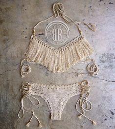Sand dollar bikini por beijobaby en Etsy