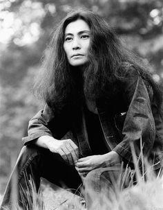 """Yoko Ono by Bob Gruen, New York City, 1973  """
