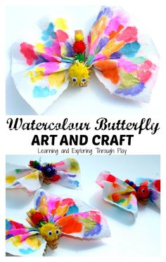 Learning and Exploring Through Play: Watercolour Painting Butterfly Craft