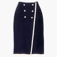 J.Crew - Collection nautical wrap sweater-skirt