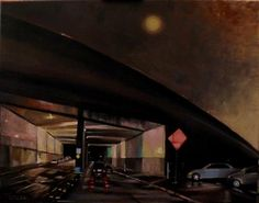"Daily Paintworks - ""Lilac Drive Underpass"" - Original Fine Art for Sale - © Tamsen Armstrong"