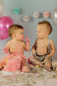 Twin Cake Smash by Kist Photography Twin Cake Smash, Twins Cake, All The Colors, Photographs, Children, Fun, Baby, Young Children, Boys