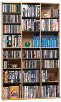 CD and Video Racks 22653: Multimedia Wall Storage Unit Dvd Cd ...