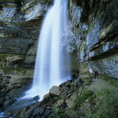 Grand Saut Waterfall, Cascades Du Herisson, Near Clairvaux Les Lacs, Jura, France