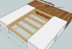 how to build a waterbed pedestal with drawers