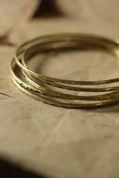 Brass Hoop Bangle 2mm | IRRE