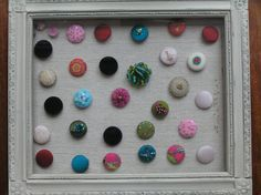 from the Opulent Thread Buttons, Crafty, Frame, Home Decor, Decoration Home, Frames, A Frame, Interior Design, Home Interior Design
