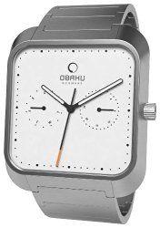 Obaku Men's Harmony Silver-Tone Bracelet Watch – White – V145UGWSG
