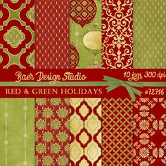 Beautiful digital Christmas paper that can be used for creating gift wrap, photo card backgrounds, holiday scrapbooking, printables, etc.