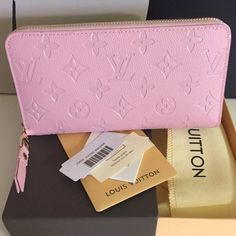 Pink Louis Vuitton zippy wallet *READ READ READ*** brand new INSPI*RED wallet, real leather, excellent hardware. Comes with box and dust bag, no trades! Louis Vuitton Bags Wallets