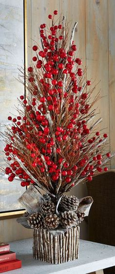 45 Cool Rustic Christmas Home Decorating Ideas Christmas Decorations For The Home, Christmas Centerpieces, All Things Christmas, Christmas Tree Decorations, Christmas Wreaths, Christmas Ornaments, Holiday Decor, Table Centerpieces, All About Christmas