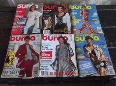 6-VINTAGE-1993-94-BURDA FASHION MAGAZINES-UNCUT SEWING PATTERNS-ENGLISH