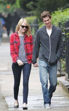 Love the outfit.  Emma Stone and Andrew Garfield look pretty cute together too ;)