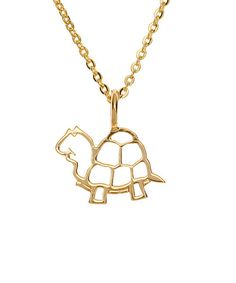 Baby Turtle Necklace $55